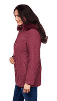 ❤️ Up to Plus ❤️ Womens Padded Hooded Wine Winter Jacket db8293